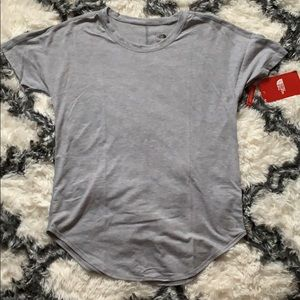 North Face gray workout top